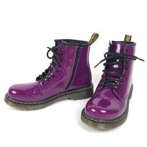 Dr Martens Delaney Purple Boots Size 5